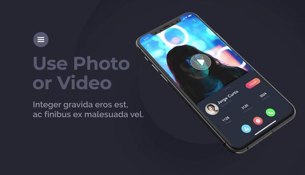 黑色iPhone手机mockup样机3d展示动效模板