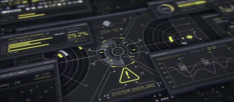 AE模板-100个数字科技感HUD元素UI用户界面图形元素包
